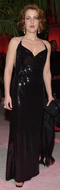 Gillian Anderson at the after party of the 58th Annual Golden Globe Awards.
