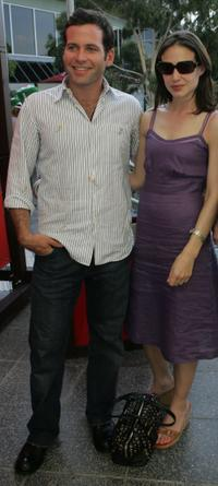Eion Bailey and Claire Forlani at the day six of Australian Open.