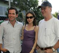 Eion Bailey, Claire Forlani and William Hurt at the day six of Australian Open.
