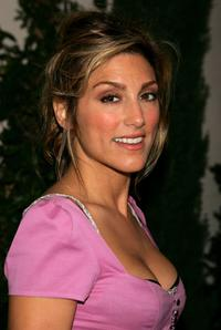 Jennifer Esposito at the WB Network stars party.