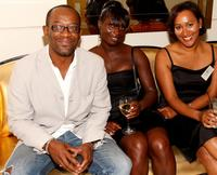 Lennie James, producer Rita Osei and producer Esther Doughlas at the UK Film Council US