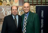 Matthew Cooper and James Carville at the cocktail party to announce the premiere issue.