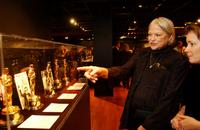 Louise Fletcher at the opening of the exhibition