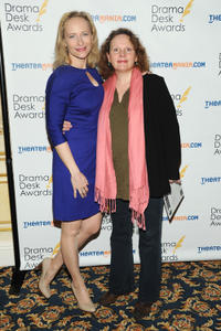 Laila Robins and Maryann Plunkett at the 2013 Drama Desk Nominees Reception in New York.
