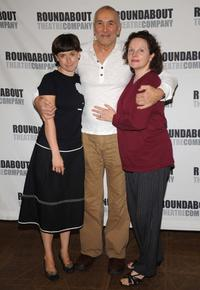 Margaret Moore, Frank Langella and Maryann Plunkett at the rehearsals of