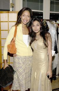 Gina Torres and Sanjina at the Indian designer Anand Jon's West Coast debut couture fashion show