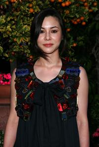 China Chow at the YSL pool party in Beverly Hills, California.