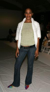 Megalyn Echikunwoke at the Rebecca Beeson Fall 2005 show.