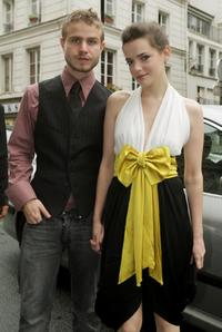 Brady Corbet and Roxane Mesquida at the Jean Paul Gaultier '09 Fall Winter Haute Couture fashion show during the Paris Fashion Week.