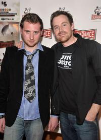 Simon Ennis and Joshua Peace at the premiere of