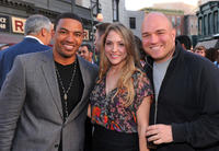 Laz Alonso, Brooke Nevin and Executive producer Nick Santora at the Twentieth Century Fox Television Distribution party in California.