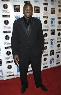 Adewale Akinnuoye-Agbaje at the Celebration of Artistic Freedom Academy Awards Viewing Dinner.