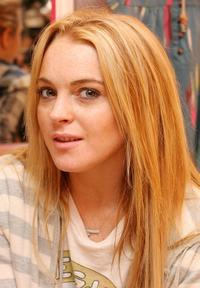 Lindsay Lohan at the flagship store of Charlotte Ronson.