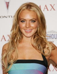Lindsay Lohan at the Maxim Hot 100 Party .