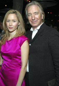 Megan Dodds and director Alan Rickman at the after party of the opening of