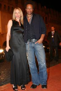 Rosanna Arquette and Gary Dourdan at the Castel Sant'Angelo for the opening day party of the RomaFictionFest.
