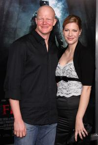 Derek Mears and Guest at the Los Angeles premiere of