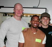 Derek Mears, Arlen Escarpeta and Travis Van Winkle at the Anchor Bay Entertainment's Jason Voorhees reunion.