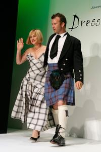 Patricia Arquette and husband Thomas Jane at the Johnnie Walker Dressed to Kilt 2006 fashion show during the Mercedes Benz Fashion Week.