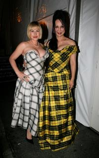 Patricia Arquette and Eva Chow at the Johnnie Walker Dressed to Kilt 2006 fashion show during the Mercedes Benz Fashion Week.
