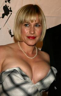 Patricia Arquette at the Johnnie Walker Dressed to Kilt 2006 fashion show during the Mercedes Benz Fashion Week.