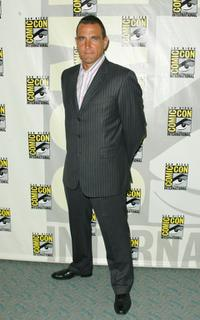Vinnie Jones at the press panel during the 2007 Comic-Con.