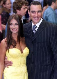 Tanya and Vinnie Jones at the london premiere of