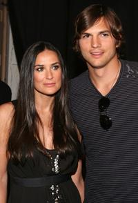 Demi Moore and Ashton Kutcher at the Mercedes-Benz Fashion Week Spring 2008.