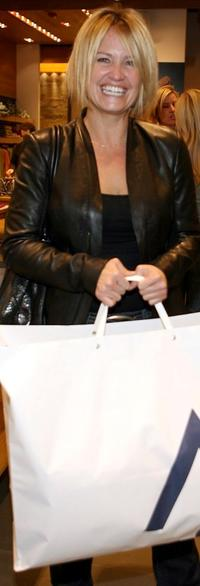 Sherry Stringfield at the grand opening of Martin and Osa store benefitting Step Up Women's Network.