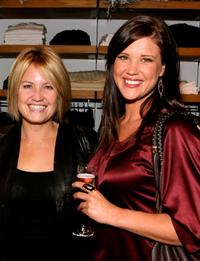 Sherry Stringfield and Sarah Lancaster at the grand opening of Martin and Osa store benefitting Step Up Women's Network.