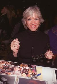 Anne Francis at the Hollywood Collectors and Celebrity Show.