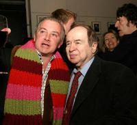 Martin Gallagher and Joe Franklin at the Edie Sedgwick Exhibit opening party.