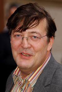 Stephen Fry at the Saatchi Gallery celebrity launch party.