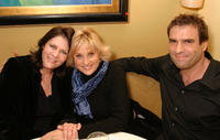 Mo Gaffney, Lorna Luft and Colin Freeman at the after party of