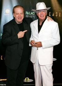 Clu Gulager and John Gulager at the premiere of the