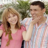 Dinara Droukarova and Maruf Pulodzoda at the photocall of