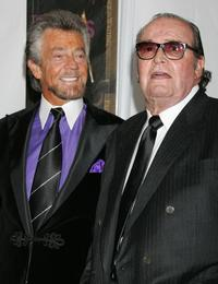 James Garner and Stephen J. Cannell at the Paddy Chayefsky Television Laurel Award pose in the press room during the 2006 Writers Guild Awards.