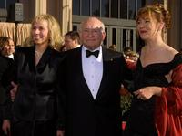 Ed Asner with his wife and daughter at the 8th Annual Screen Actors Guild Awards.