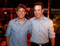 Chris Lowell and Paul Adelstein at the ABC launch party of