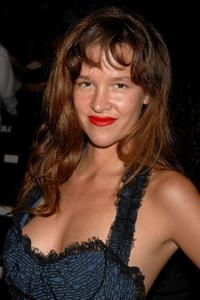Paz de la Huerta at the Zac Posen 2008 Fashion Show.