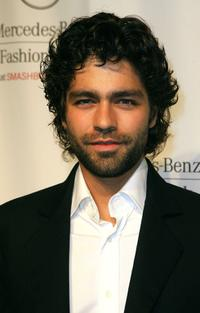 Adrian Grenier at the Mercedes Benz Fashion Week.