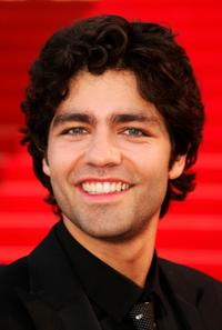 Adrian Grenier at the filming of