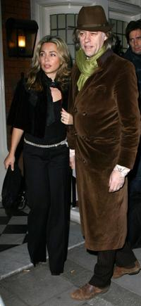 Bob Geldof and Guest at the Finch & Partners Pre BAFTA Party.