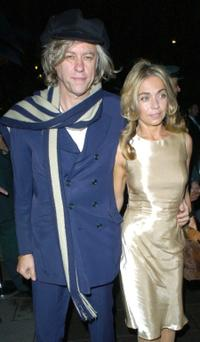 Bob Geldof and Guest at the launch of Kate Moss's new Top Shop