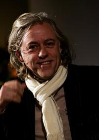 Bob Geldof at the discussion on HIV and Climate Change.