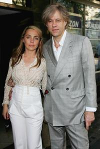 Bob Geldof and Guest at the private screening of