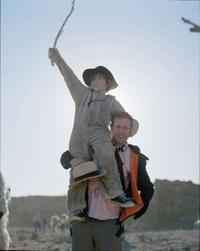 Max Records and director Spike Jonze on the set of