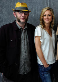 Max Baker and Kerry Bishe at the portrait studio during the day 7 of the Tribeca Film Festival 2011.