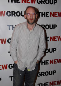 Max Baker at the Off-Broadway opening night of