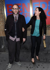 Max Baker and Geraldine Hughes at the Broadway opening night of